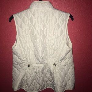 croft & barrow Jackets & Coats - White vest
